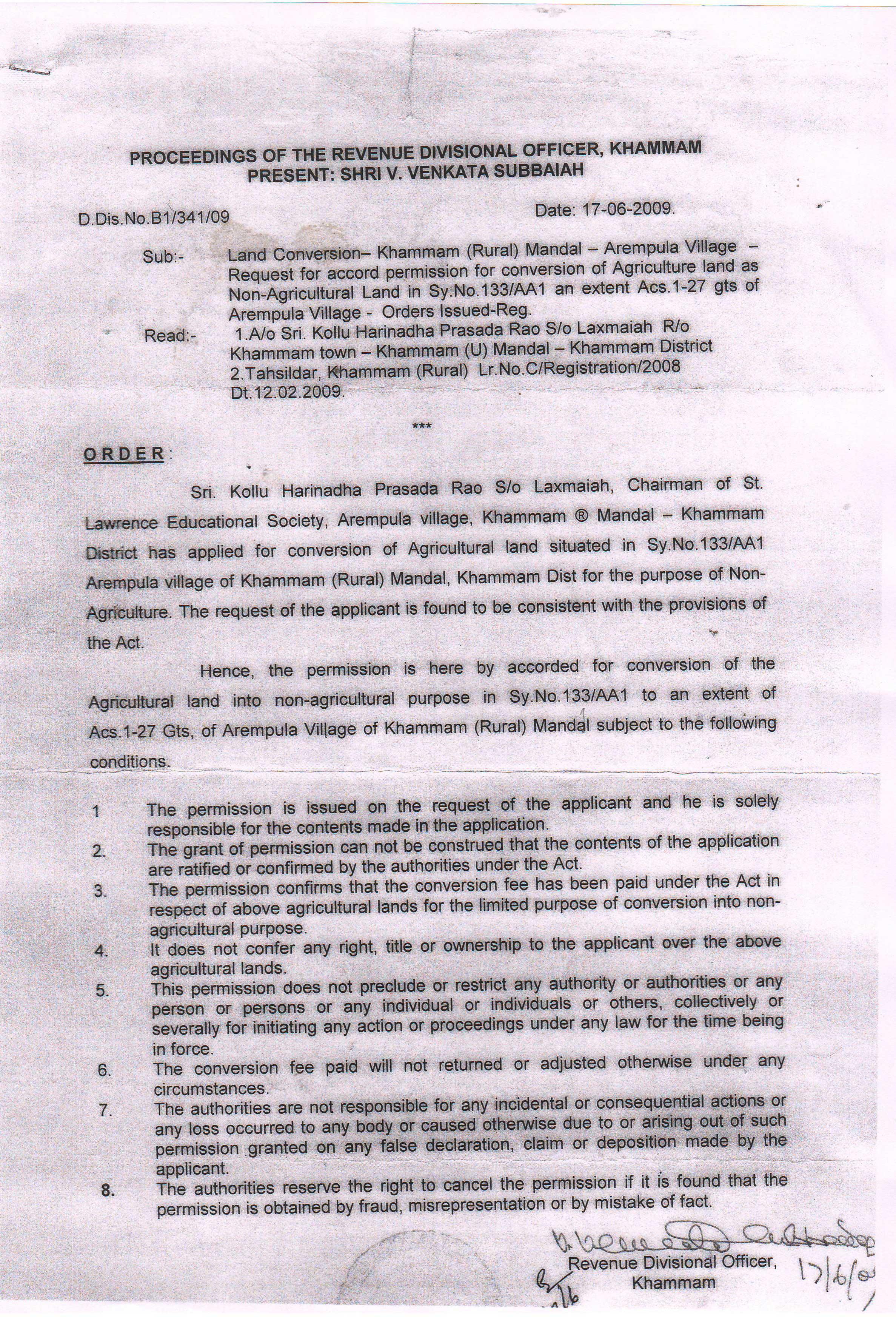 Land-conversion-certificate